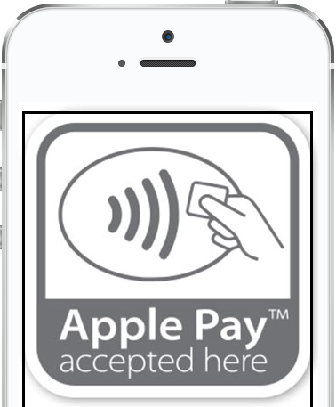 Image of an iPhone with Apple Pay on the display